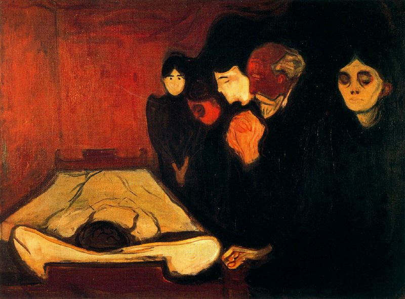 """Edvard Munch, """"Al capezzale di un defunto"""", 1893"""